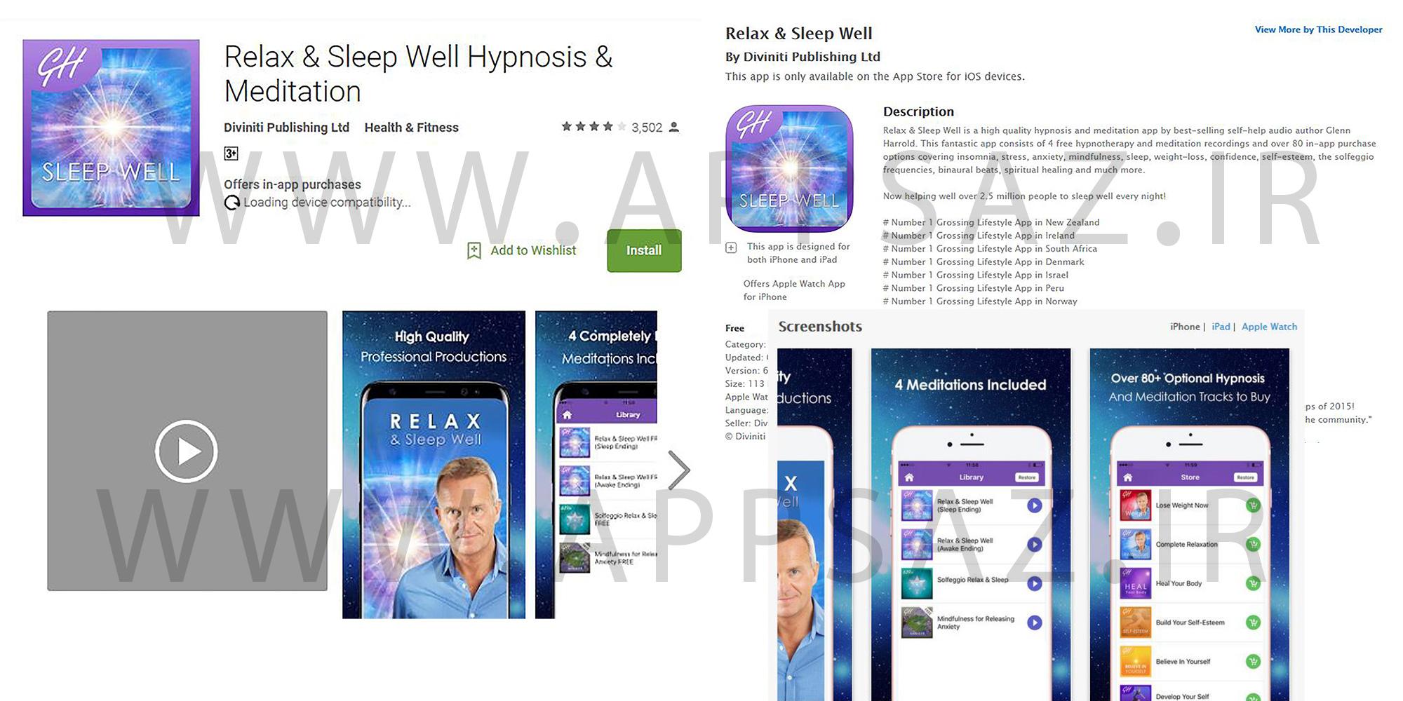 Relax & Sleep Well Hypnosis & Meditation