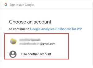 اکانت گوگل آنالاتیکس خود را انتخاب کنید