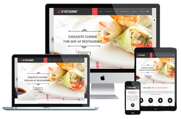 نمونه یک سایت رستورانی