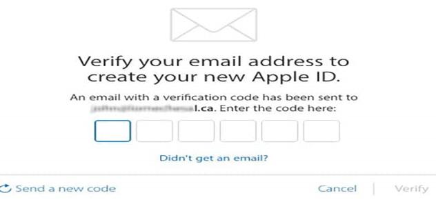 ورود کد ارسال شده به ایمیل