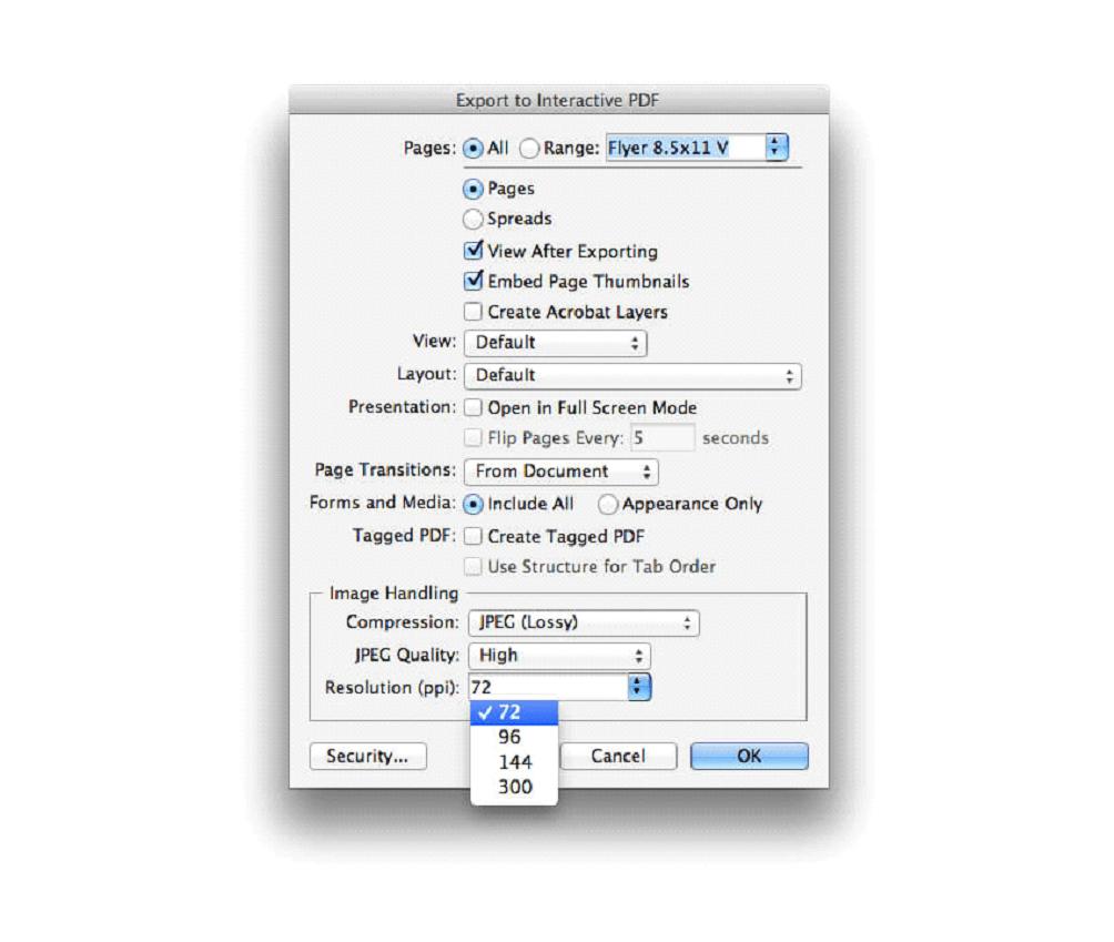 خروجی pdf