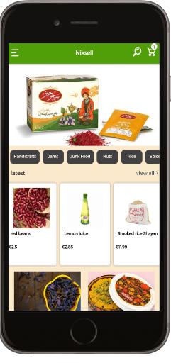 طراحی و ساخت اپلیکیشن فروشگاهی میوه